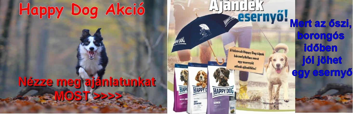 Happy Dog kutyatáp akció