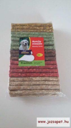 Préselt, színes jutalomrúd kutyáknak 100 db--1100g