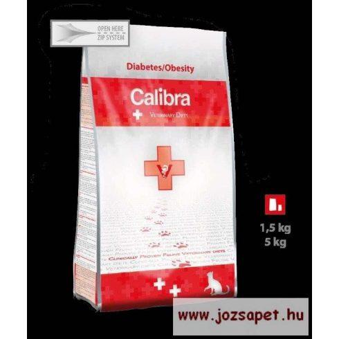 CALIBRA VET Diabetes / Obesity -diétás macskatáp/gyógytáp elhízás, cukorbetegség 1,5kg