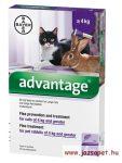 Advantage macskáknak és nyulaknak 4ml 4kg alatt, 1 pipetta