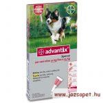 Advantix Spot-On 10-25kg közötti kutya számára 2,5ml*4 pipetta