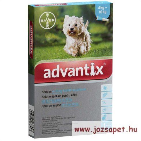 Advantix Spot-On 4-10kg közötti kutya számára 1ml 1 pipetta