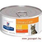 Hill's Prescription Diet Feline c/d minced chicken konzerv macska részére 156g