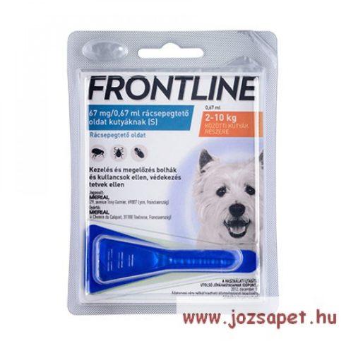 Frontline Spot On S kullancs, bolha ellen kistestű (2-10kg) kutya számára