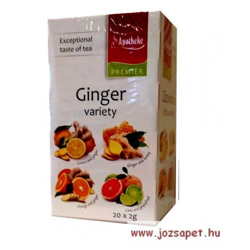 Apotheke - Gyömbér Variációk, Vegyes Gyümölcs Tea, 4*5 filter