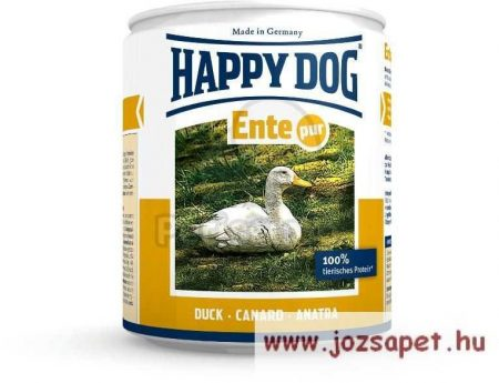Happy Dog Pur kacsás kutyakonzerv 12*400g