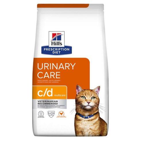 Hill's Prescription Diet Feline C/D Multicare macskatáp csirkés, rizses 5 kg