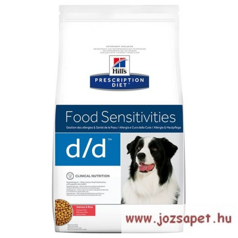 Hills Prescription Diet™ Canine d/d™ Salmon & Rice  lazacos kutyatáp