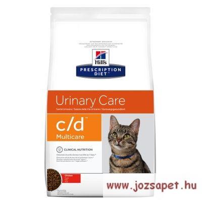 Hill's Prescription Diet Feline C/D Multicare macskatáp csirkés, rizses 1,5 kg