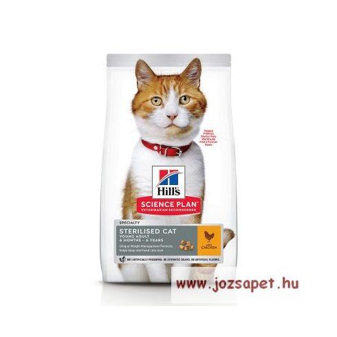 Hill's Feline Sterilised Cat Young Adult Csirkés táp ivartalanított macskának 1,5 kg