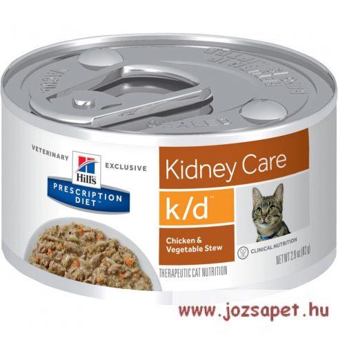 Hills Prescription Diet  Feline k/d 156g konzerv csirkével