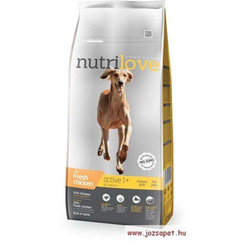 Nutrilove Dog Active 12kg kutyatáp