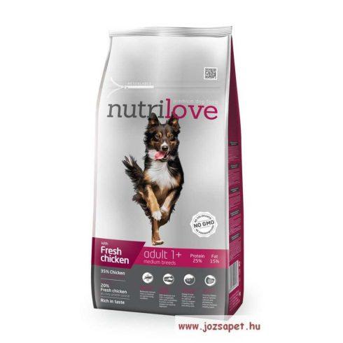 Nutrilove Adult Medium kutyatáp 8kg közepes testű kutyának