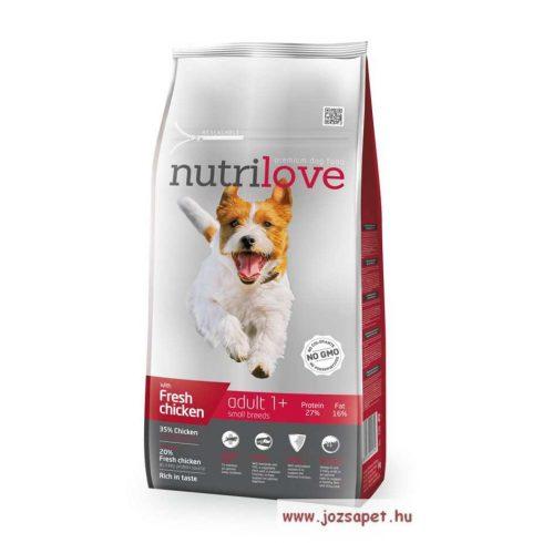 Nutrilove Adult Small kutyatáp 8 kg, kis testű kutyának