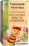 Pavel Vana - Anti-Cold Herbal Tea Gyermekeknek, 20 filter