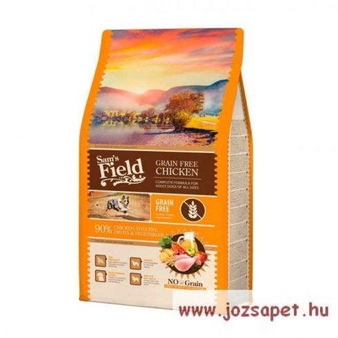 Sam's Field Grain Free, gabonamentes csirkés kutyatáp 2,5kg