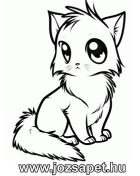 cica kifestő, letölthető, szinezhetó