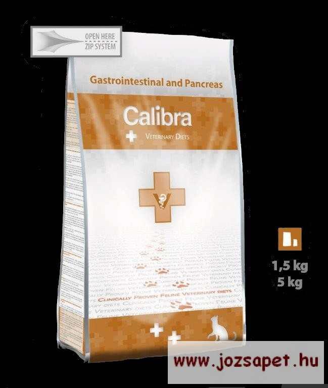 CALIBRA VET Gastrointestinal and Pancreas - diétás állatorvosi gyógytáp, macskatáp 5kg