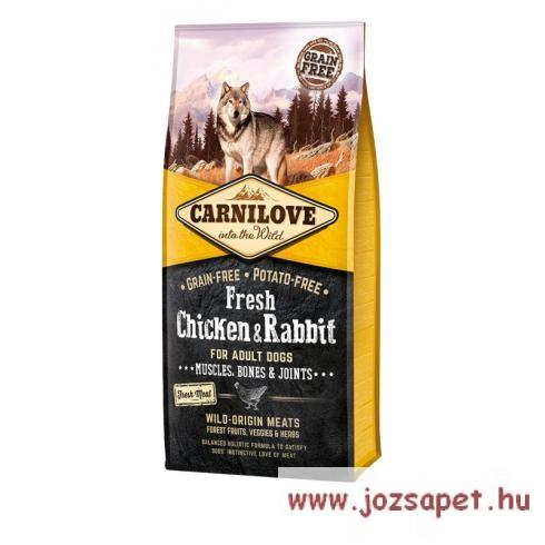 Carnilove Fresh Adult Dog Chicken & Rabbit Muscles, Bones & Joints 12kg