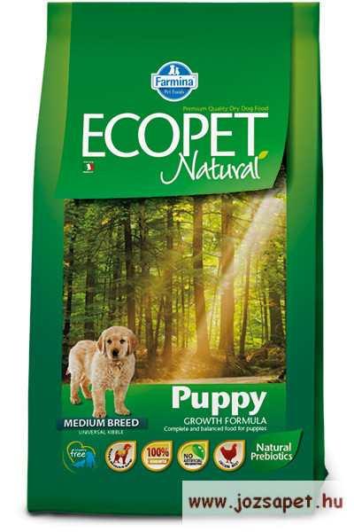 Ecopet Natural Puppy 2,5 száraztáp kölyökkutyáknak