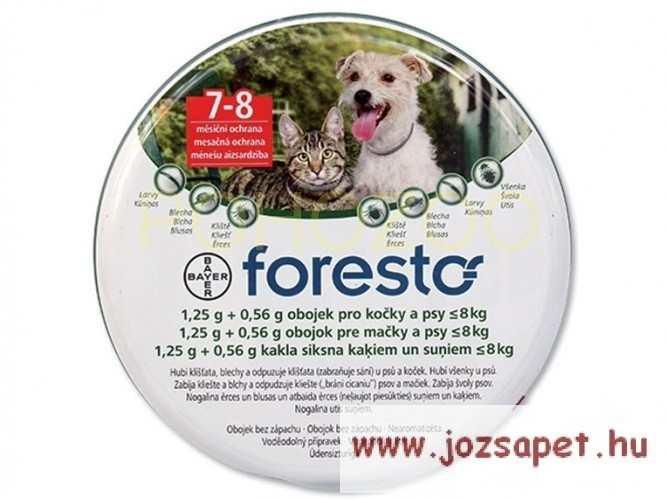 Foresto bolha és kullancs nyakörv (500Ft visszajár!) macska és 8kg alatti kutya számára 38cm
