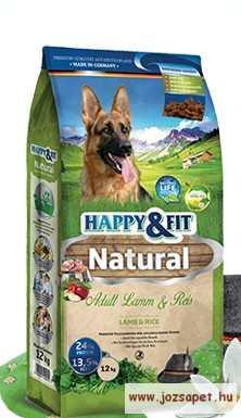 Happy&Fit Natural Adult Lamm&Rice 12kg kutyatáp