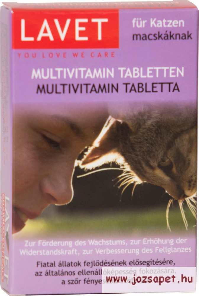 Lavet Algavitaminos Tabletta Macskának 50 db