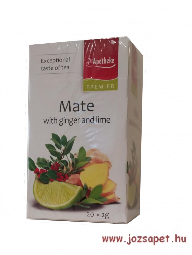 Apotheke - Mate Tea Steviával Gyömbérrel Lime ízesítéssel