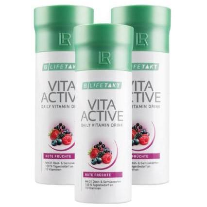LR LIFEAKT Vita Active 3*150ml természetes vitaminforrás tiszta növényi kivonatokból kicsiknek és nagyoknak