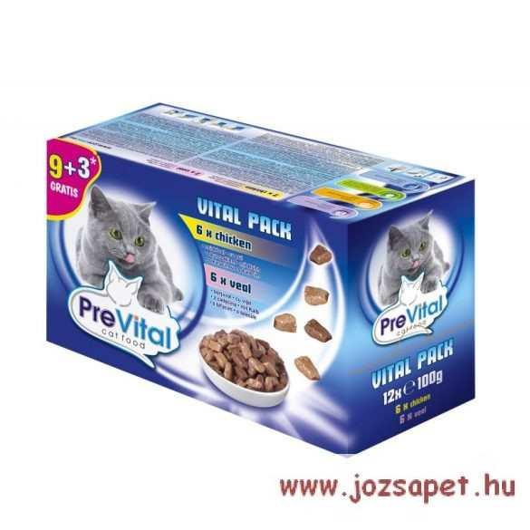 Prevital alutasakos macskaeledel 4*100g