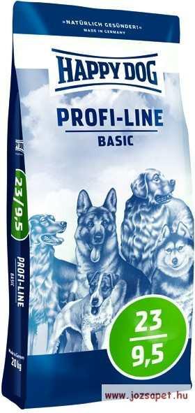 Happy Dog Profi Line Basic 23 - 9,5 kutyatáp 20kg