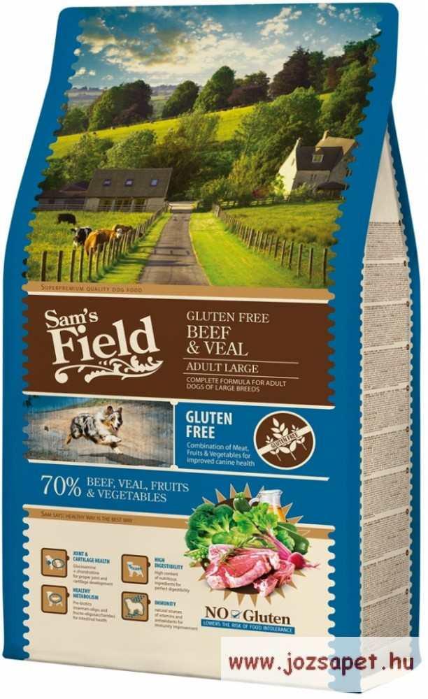 Sam's Field Gluténmentes kutyatáp Marha-Borjú 13kg