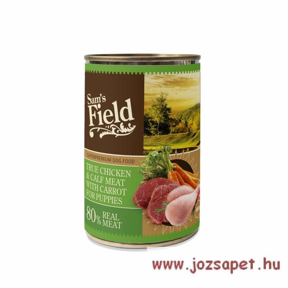 Sam's Field Puppy kutyakonzerv 400g csirke-borjú-sárgarépa