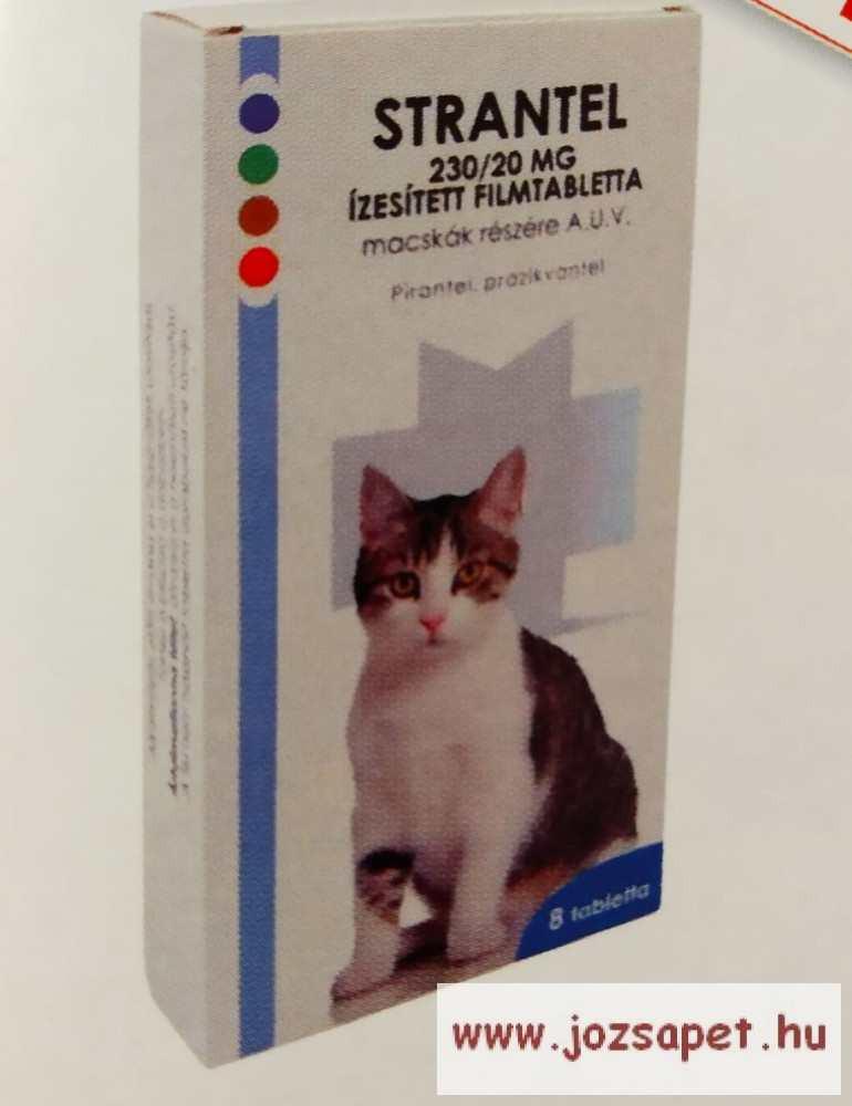 Strantel Cat féreghajtó tabletta macskának 8db